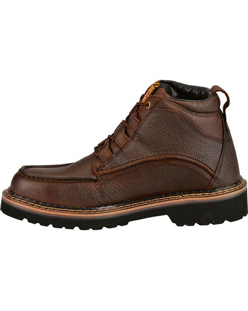 "Justin Men's Rustic Cowhide Chukka 6"" Boots, Brown, hi-res"
