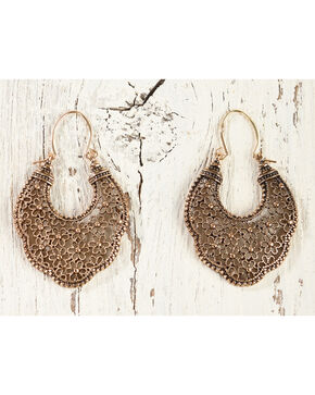Shyanne Women's Gold Filigree Earrings, Gold, hi-res