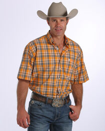 Cinch Men's Plaid Short Sleeve Shirt, , hi-res