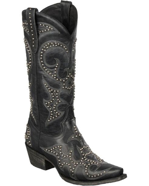 Lane Women's Lovesick Stud Western Fashion Boots, Black, hi-res