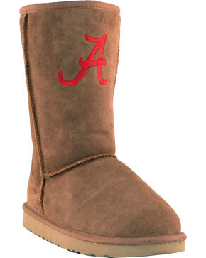 Gameday Boots Women's University of Alabama Lambskin Boots, Tan, hi-res