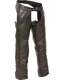 Milwaukee Leather Men's Reflective Piping Vented Chaps - 4X, , hi-res