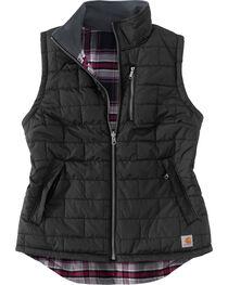 Carhartt Women's Black Amoret Quilted Vest, , hi-res