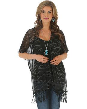 Wrangler Rock 47 Women's Sequin Kimono, Black, hi-res