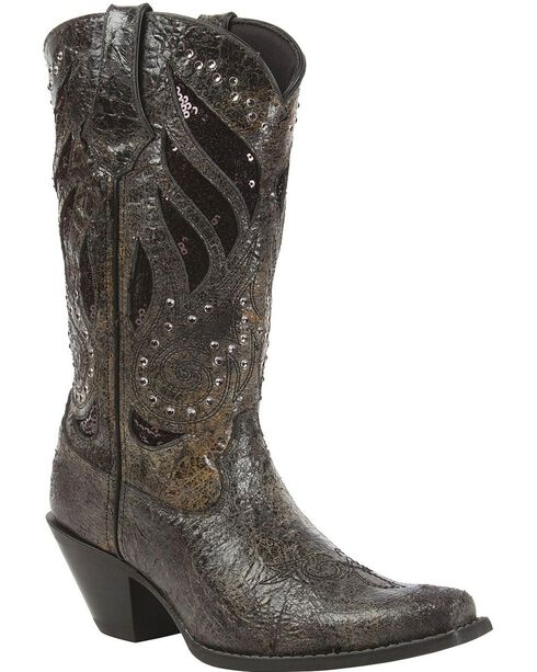 Crush by Durango Women's Bling Western Boots, Black, hi-res