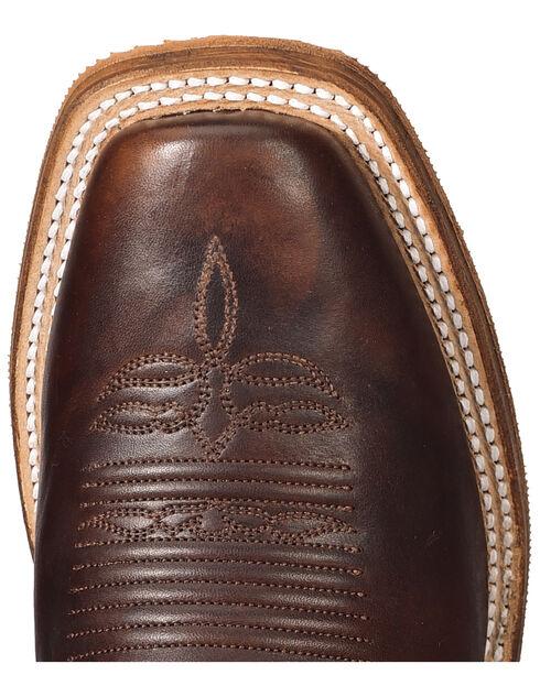 Justin Bent Rail Men's Navigator Western Boots - Square Toe, Brown, hi-res