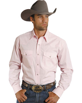 Roper Men's Amarillo Collection Western Shirt, Pink, hi-res