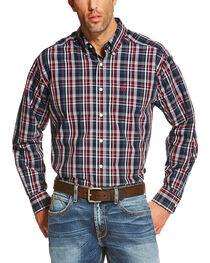 Ariat Men's Navy Vega Wrinkle Free Western Shirt , , hi-res