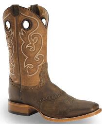 Cody James Men's Brown Saddle Vamp Western Boots - Square Toe, , hi-res