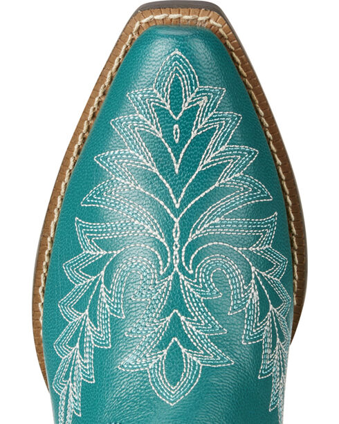 Ariat Youth Girl's Turquoise Brooklyn Boots - Snip Toe, Turquoise, hi-res
