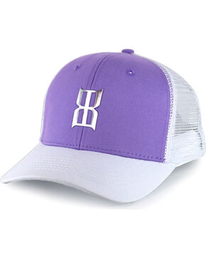 BEX Women's Two Toned Logo Trucker Hat, Purple, hi-res