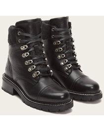 Frye Women's Black Samantha Hiker Boots - Round Toe , , hi-res