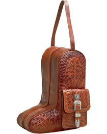American West Retro Romance Boot Bag, Antique Tan, hi-res