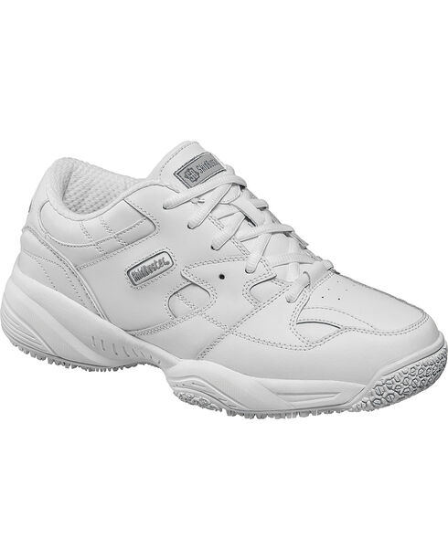 SkidBuster Women's Slip Resistant Work Shoes, White, hi-res