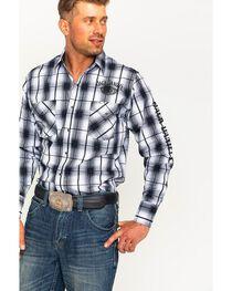 Ely Cattleman Men's Jack Daniel's Plaid Shirt , , hi-res