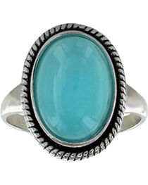 Montana Silversmiths Women's Misty Blue Pool Ring  , , hi-res