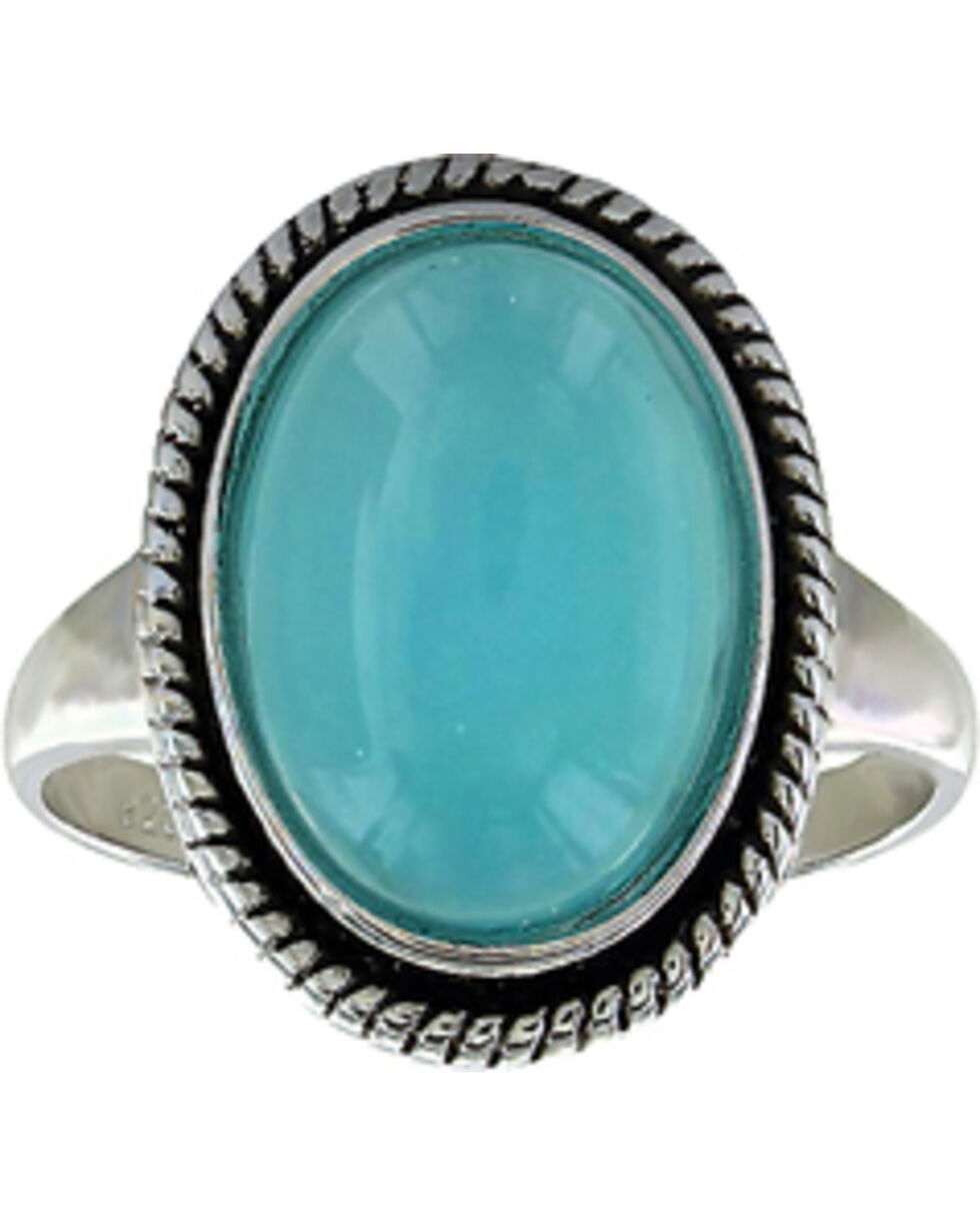 Montana Silversmiths Women's Misty Blue Pool Ring  , Turquoise, hi-res