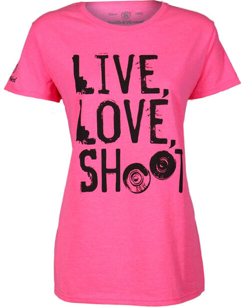 Smith & Wesson Women's Pink Classic Tee, Hot Pink, hi-res