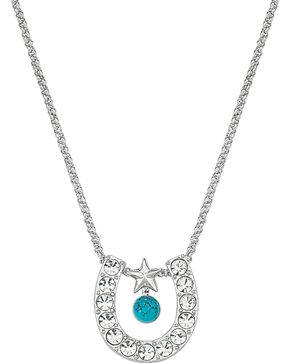 Montana Silversmiths Women's Horseshoe & Turquoise Necklace, Multi, hi-res