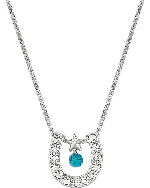 Montana Silversmiths Women's Horseshoe & Turquoise Necklace, Multi, hi-res