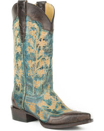 Stetson Women's Kate Embroidered Wingtip Western Boots - Snip Toe, , hi-res