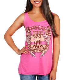 Cowgirl Up Women's Gunslinger Tank Top, , hi-res