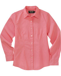 Miller Ranch Women's Pink Dobby Stripe Dress Shirt, , hi-res