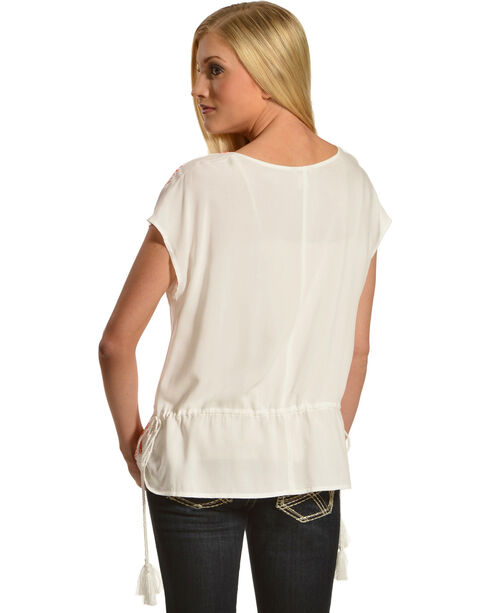 Ariat Women's Joyce Tunic Top , White, hi-res