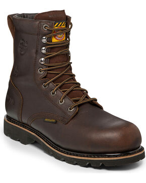 Justin Men's Miner Composite Toe Work Boots, Brown, hi-res