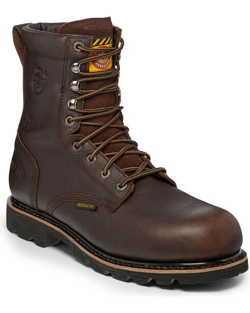 Justin Men's Miner Composite Toe Work Boots, Brown, hi-res