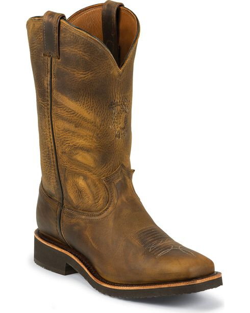 Chippewa Men's Arroyos Square Toe Pull On Outdoor Western Boots, Sand, hi-res