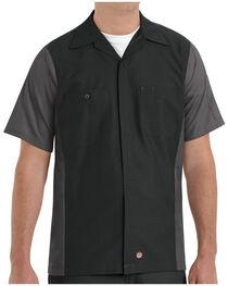 Red Kap Men's Crew Short Sleeve Shirt , Black, hi-res