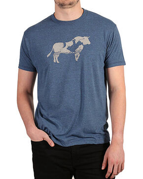 Cody James® Men's Bull Bucking T-Shirt, Black/blue, hi-res