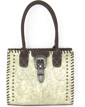 TWW-5760-BO TOOLED WHIPSTITCH BONE TOTE, Ivory, hi-res