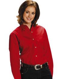 Roper Women's Amarillo Button Down Poplin Long Sleeve Western Shirt, , hi-res
