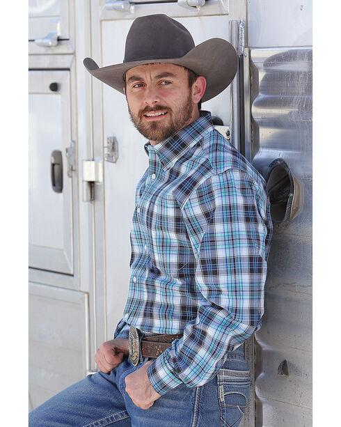 Cinch Men's Modern Fit Plaid Plain Weave Western Snap Shirt, White, hi-res