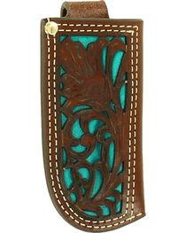 Nocona Turquoise Inlay Knife Sheath , , hi-res