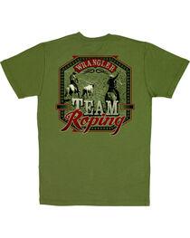 Wrangler Men's Short Sleeve Team Roping Tee, , hi-res