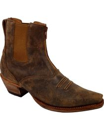 Twisted X Women's Steppin Out Western Booties, Tan, hi-res