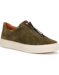 Frye Women's Dark Green Lena Zip Low Shoes - Round Toe, , hi-res
