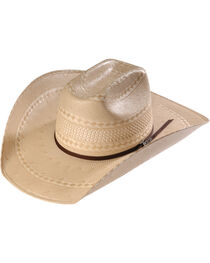 Twister Men's Shantung Straw Diamond Cowboy Hat , , hi-res