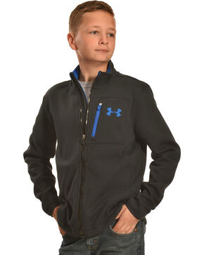 Under Armour Kids' Grantie Jacket, Black, hi-res