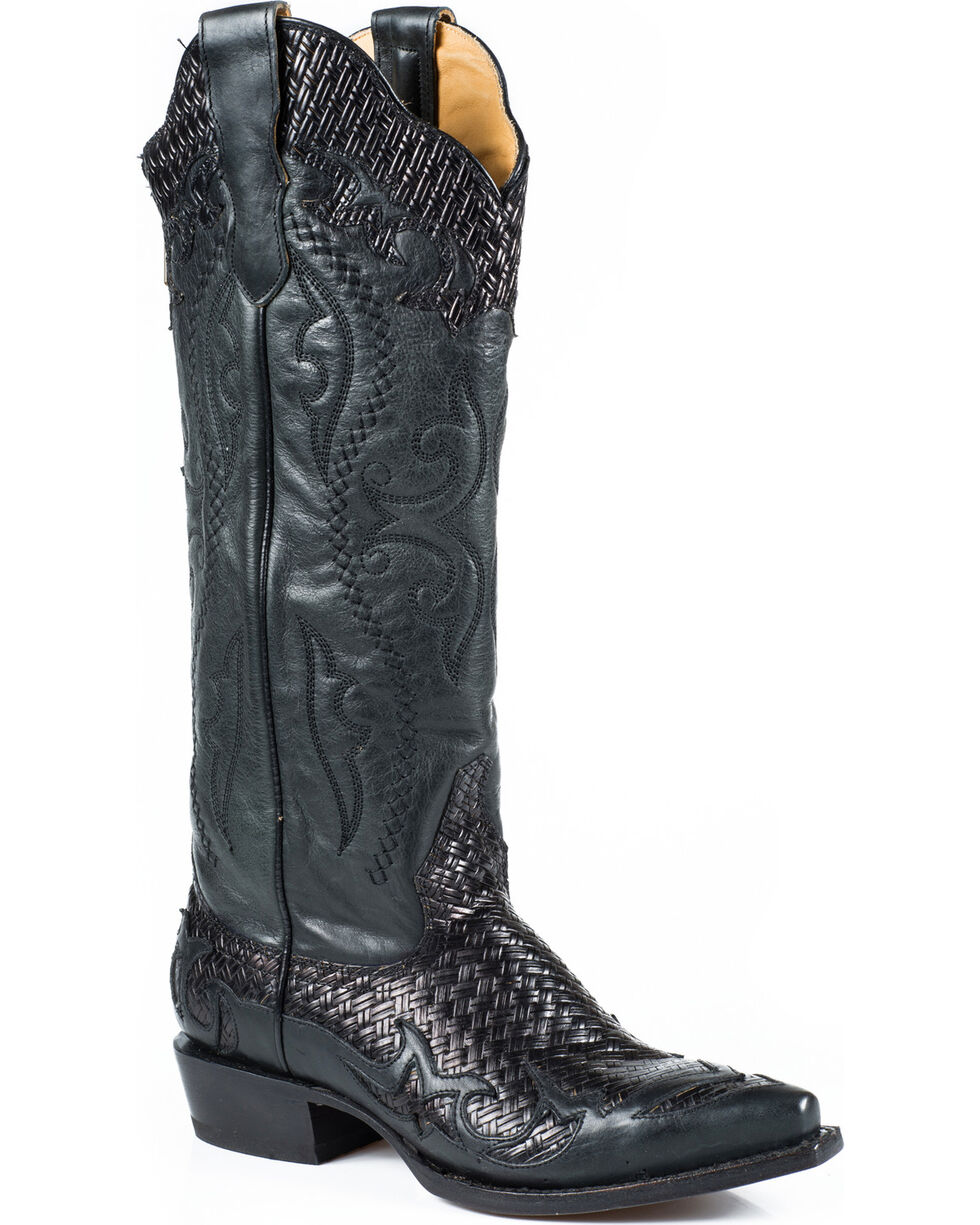Stetson Women's Bailey Western Boots, Black, hi-res