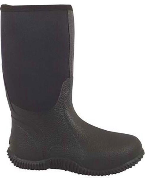 Smoky Mountain Men's Black Amphibian Boots - Round Toe , Black, hi-res