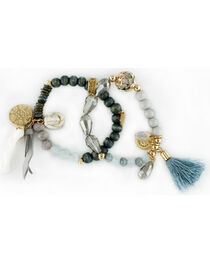Sincerely Mary Women's Gaia Beaded Tassel Bracelet, , hi-res