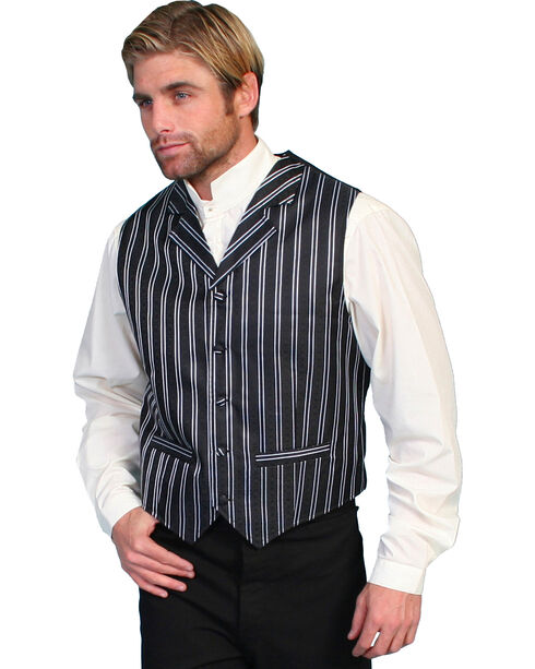 Rangewear by Scully Double Pinstripe Vest, Black, hi-res