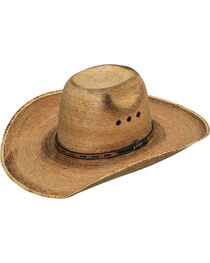 Ariat Men's Ivory Fired Palm Punchy Hat , , hi-res