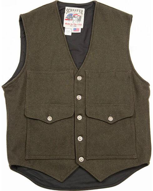 Schaefer Outfitter Men's Loden Scout Melton Wool Vest - 3XL, Olive, hi-res