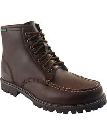 Eastland Men's Brown Lucas Moc Toe Boots , , hi-res