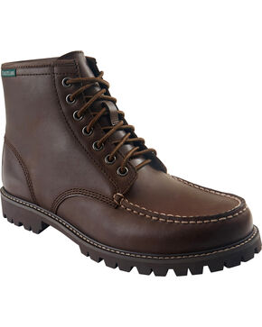 Eastland Men's Brown Lucas Moc Toe Boots , Brown, hi-res